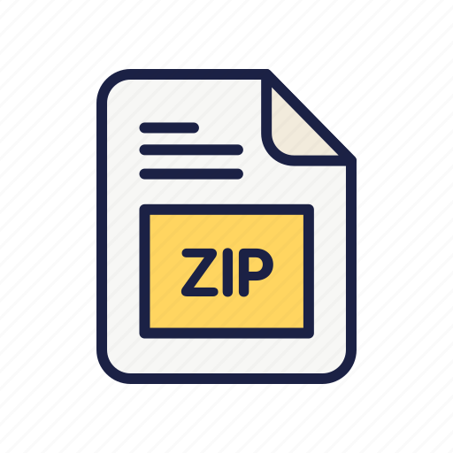 archive, document, extension, file, type, zip icon