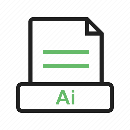 ai, document, file, format, interface, psd icon