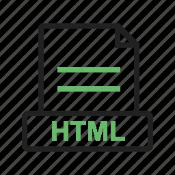 document, extension, file, htm, html, internet, pdf icon