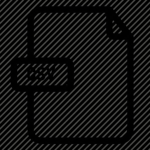 comma separate values, csv, csv file icon