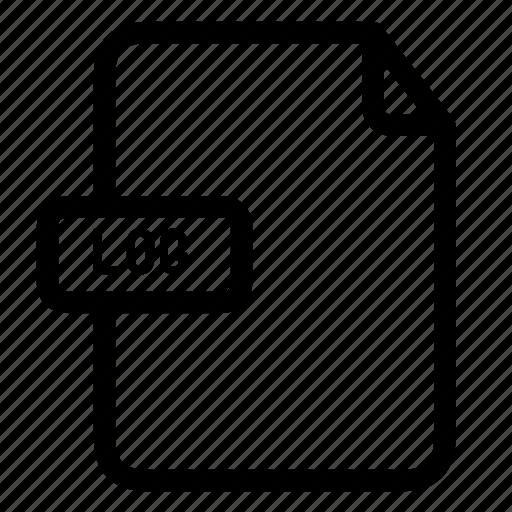 log, log extension, log files icon