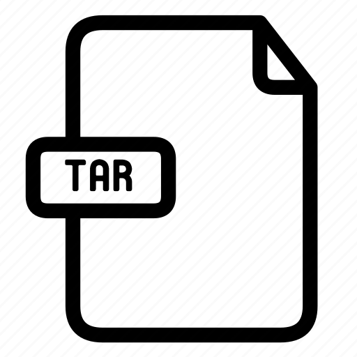 tar, tar extension, tar file icon