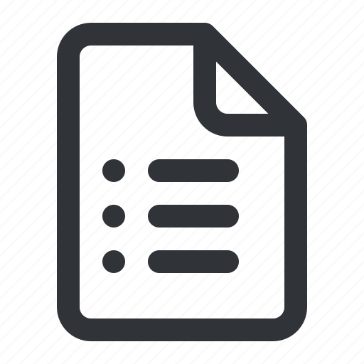 document, file, files, list, type icon