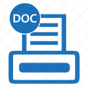 doc, documents, file, format, paper, text, word icon
