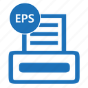 eps, file, fileeps, format, image icon