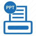 document, file, format, powerpoint, ppt icon