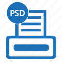 file, format, photoshop, psd, psddesign icon