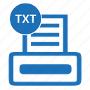 document, extension, file, filename, format, txt icon