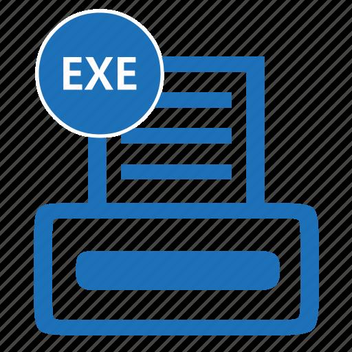 exe, executable, file, format, programprogramsoftware icon