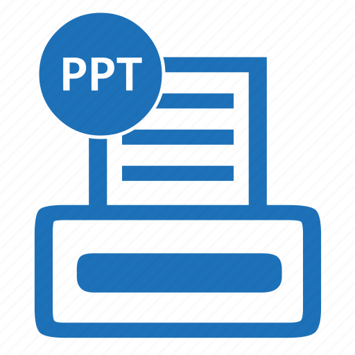 document file format powerpoint ppt icon