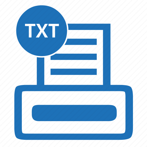 Document, extension, file, filename, format, txt icon ...