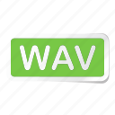 extension, file, files, format, type, types, wav icon