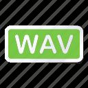 extension, file, files, format, type, types, wav