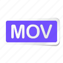 extension, file, files, format, mov, type, types icon