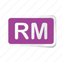 extension, file, files, format, rm, type, types icon