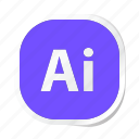 ai, extension, file, files, format, type, types icon