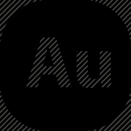 adobe, au, extension, file, folder, format, types icon