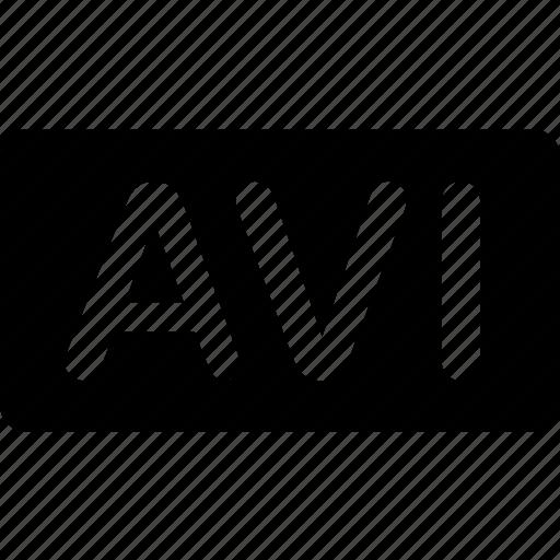 avi, extension, file, format, media, types, video icon