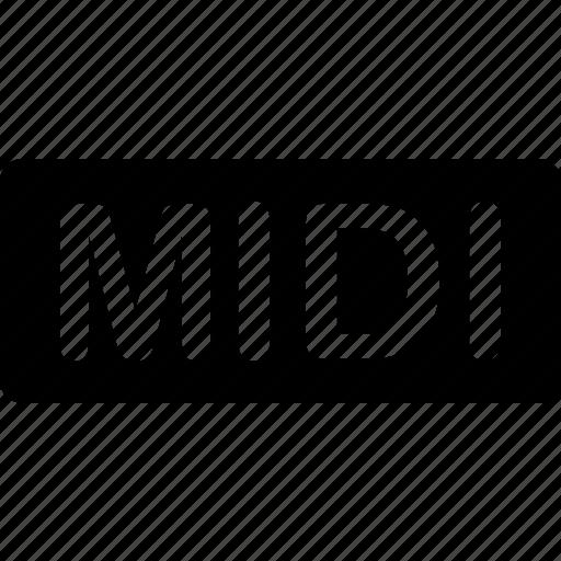 audio, extension, file, format, midi, sound, types icon