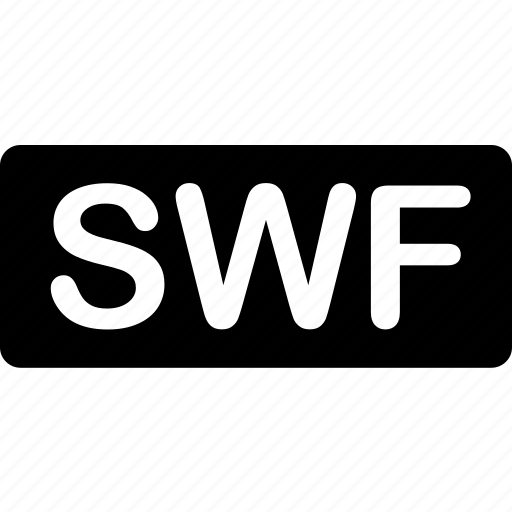 extension, file, format, media, swf, types, video icon