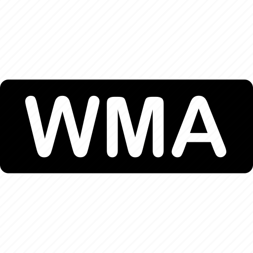 extension, file, format, sound, types, video, wma icon