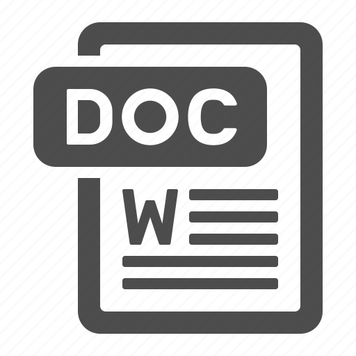 doc, document, extension, file, format, text icon