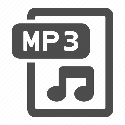audio, document, extension, file, format, mp3, music note icon