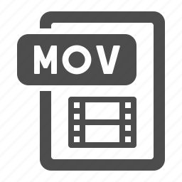 document, extension, file, format, mov, movie, video icon
