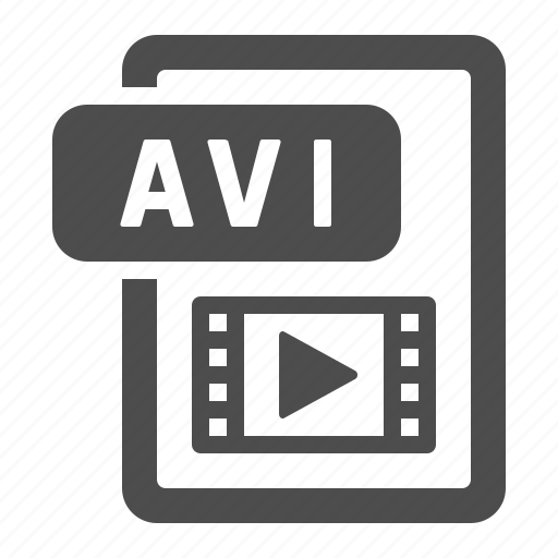 avi, document, extension, file, format, movie, video icon