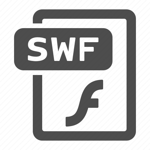 document, extension, file, flash, format, swf icon