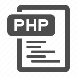 code, coding, document, extension, file, format, php icon