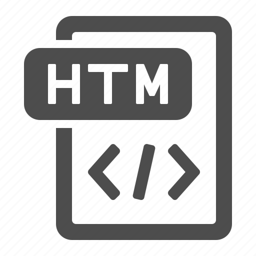 code, document, extension, file, format, htm, html icon