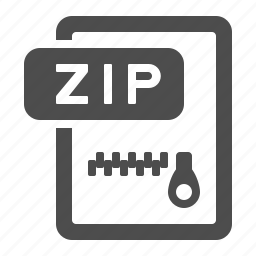 archive, document, extension, file, format, zip, zipper icon