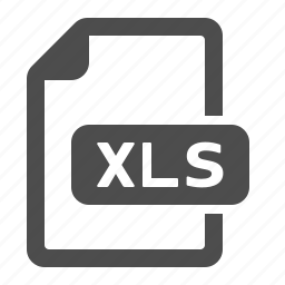 document, extension, file, format, xls icon