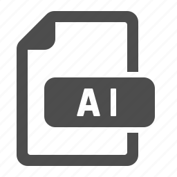 ai, document, extension, file, format icon