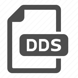 dds, documents, extension, files, format icon