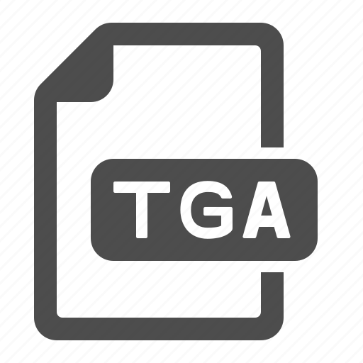 document, extension, file, format, tga icon
