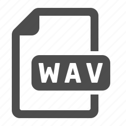 document, extension, file, format, wav icon