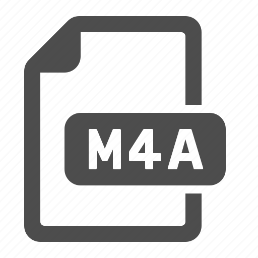 documents, extension, files, format, m4a icon