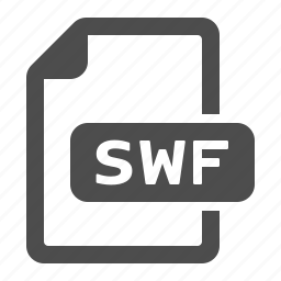 documents, extension, files, format, swf icon