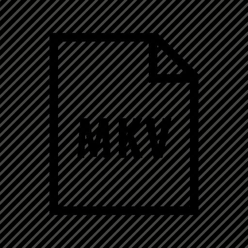 file, film, format, mkv, movie, video icon