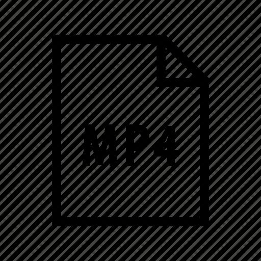 file, film, format, movie, mp4, multimedia, video icon