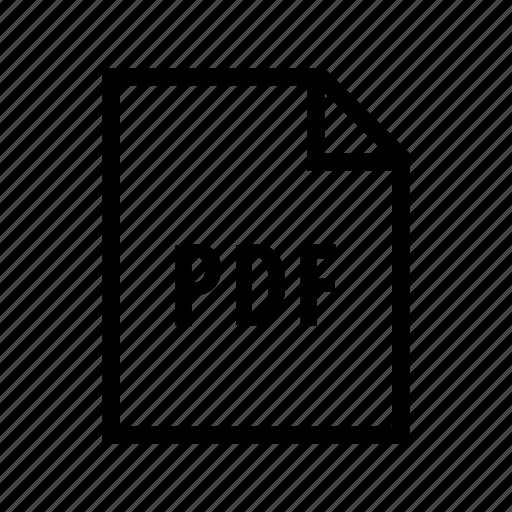 adobe, document, pdf, print icon