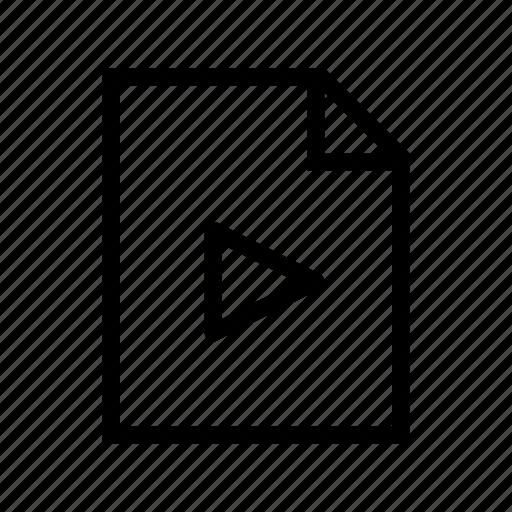 file, film, media, movie, video icon