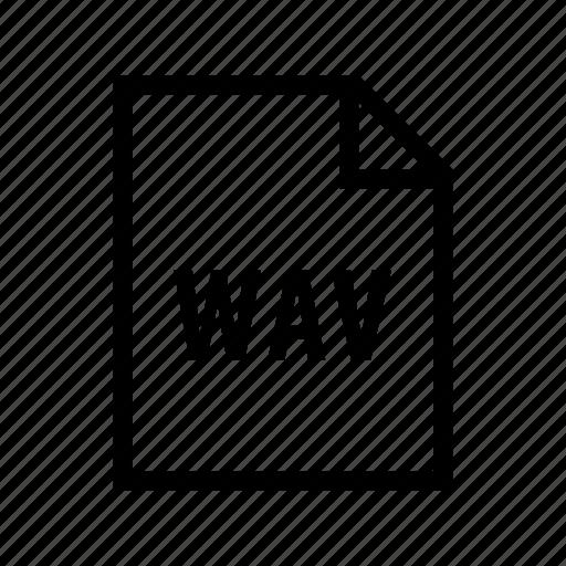 audio, media, music, sound, wav icon