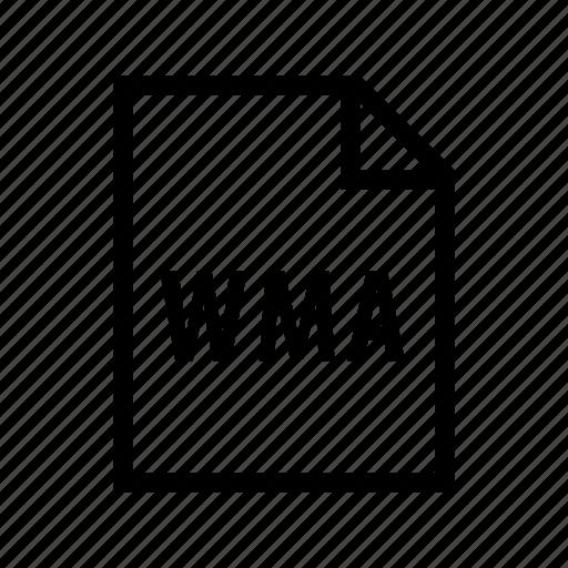 audio, media, music, sound, windows, wma icon
