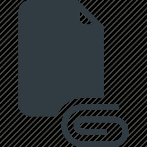 Documen, paper, clip, file, attache icon