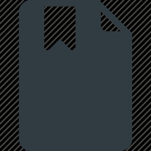 bookmark, documen, file, paper icon