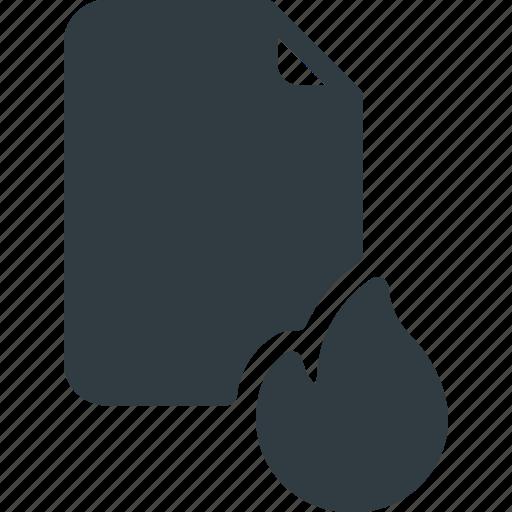 Burn, documen, file, fire, paper icon - Download on Iconfinder