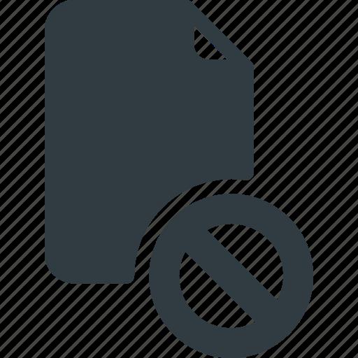 disable, documen, file, paper icon